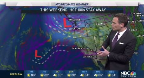 While high pressure is just offshore it's not strong enough to bring major heat.  Chief Meteorologist Jeff Ranieri tracks another change this weekend that will definitely keep hot Summer 100s away in your Microclimate Forecast.
