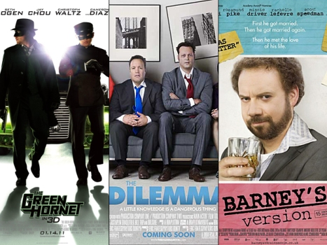 "This Week's New Movies: If ""The Green Hornet"" Presents a ""Dilemma,"" Opt for ""Barney's Version"""