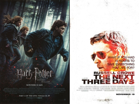 "This Week's New Movies: Everyone's Watching ""Harry Potter"" Over ""Next Three Days"""