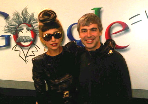 Lady Gaga Visits Google