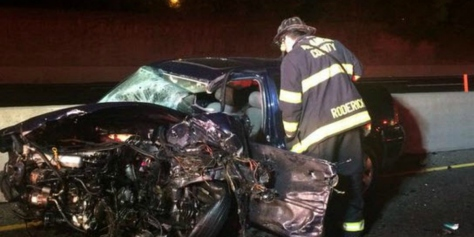 7-Vehicle Collision Causes Fiery Mess on I-880