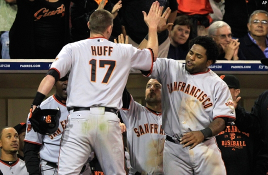 Giants Tie Game Late, Top Padres 6-2
