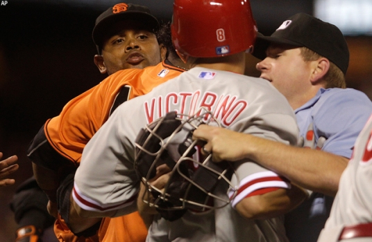 Tempers Flare in Giants' Loss to Phils