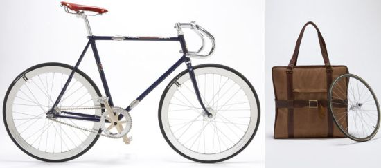 Gorgeous Bike Folds up Into a Leather Bag