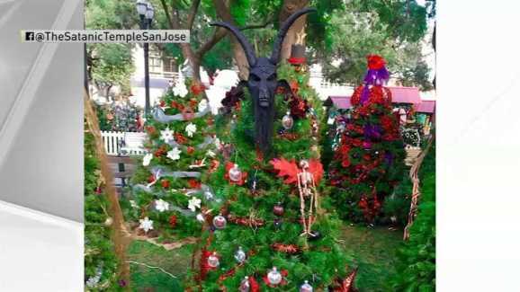 Satanic Temple Tree Topper Stolen - Satanic Temple Tree Topper Stolen - NBC Bay Area