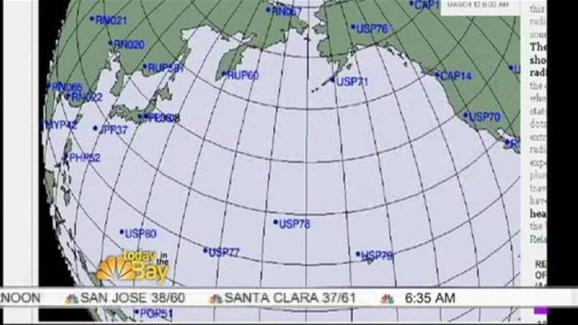 Radiation plume headed to california from japan nbc bay area radiation plume headed to california from japan gumiabroncs Choice Image