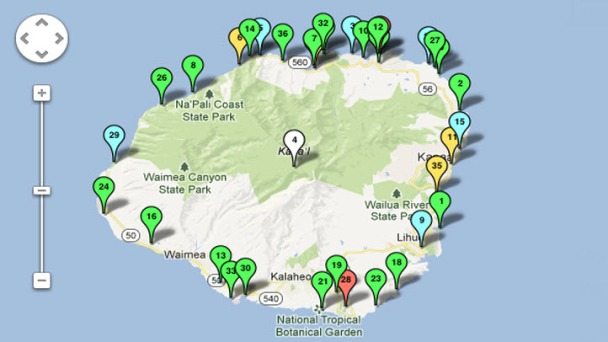INTERACTIVE MAP: Kauai Drownings (1970 - 2012)