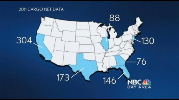 Map of National Cargo Theft Incidents