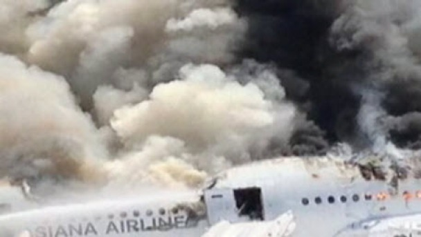 Witness on Flight Next to Plane Crash Describes Scene