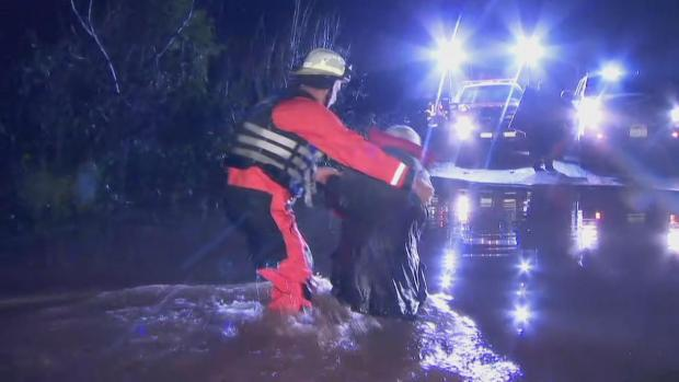 NBC Bay Area Crew Helps Rescue Elderly Man From Monte Rio Flooding