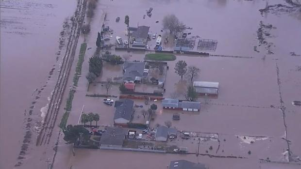 Floods Swallow Up Homes, Cattle in Hollister, Dozens Rescued