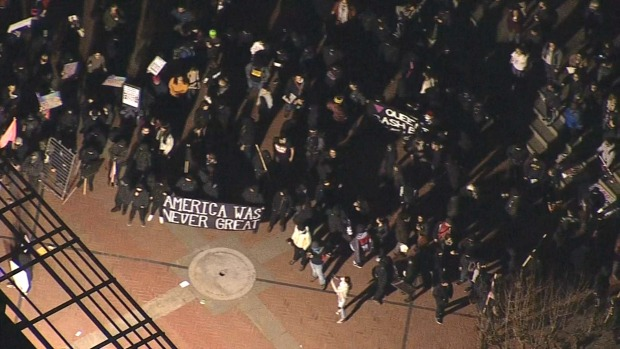 PHOTOS: Protests Erupt at Yiannopoulos Event
