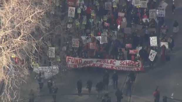 RAW: Striking Teachers March Through Oakland