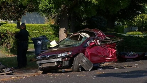 [BAY] Witnesses Say Car Was Driving 90-100 MPH Prior to Crash