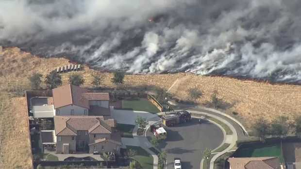 [BAY] Brush Fire Prompts Evacuations in Solano County