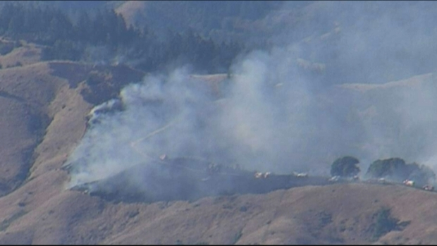 [BAY] Crews Battle Brush Fire in Marin County