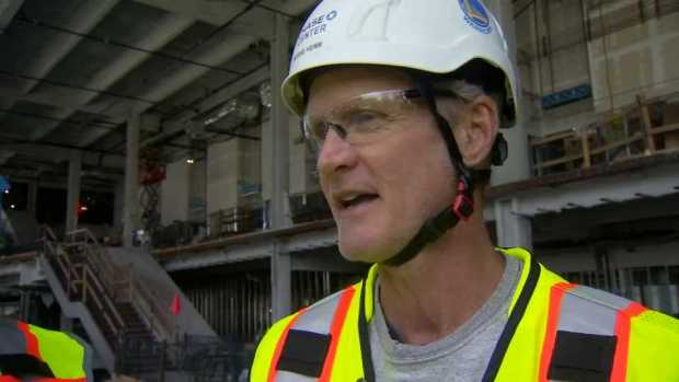 [BAY] Warriors Coach Steve Kerr Tours New Chase Center in SF