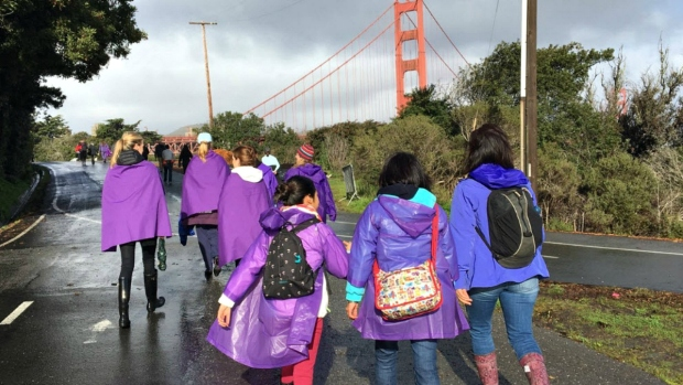 Hands Across the Golden Gate Bridge