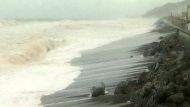 Dangerous Waves Pound Bay Area Beaches