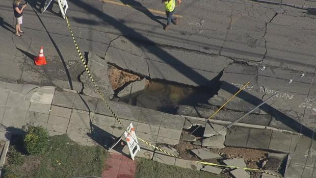 Crews Work to Repair Water Main Break, Sinkhole in Oakland