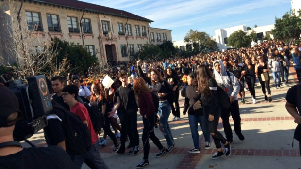 East Bay High School Students Walk Out After Donald Trump Named President