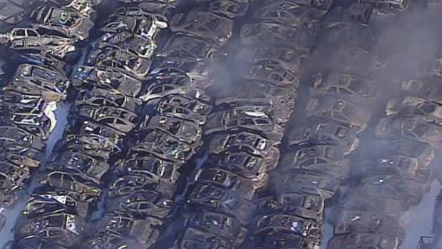 classic car 39 deal auto wrecking 39 yard burns down near richmond nbc bay area. Black Bedroom Furniture Sets. Home Design Ideas