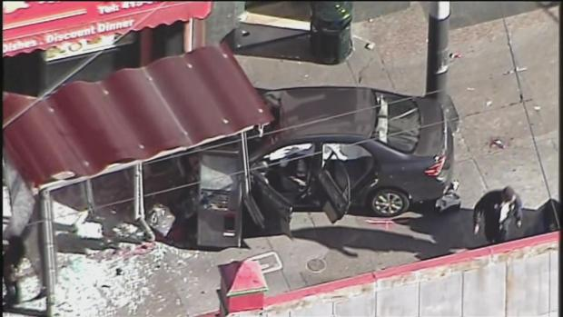 [BAY] 10 Injured After Toyota Plows Into Bus Stop in San Francisco's Chinatown