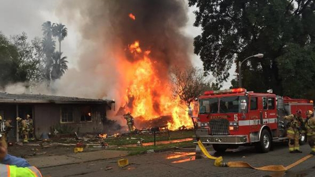 Photos: Riverside Neighborhood Rocked by Small Plane Crash