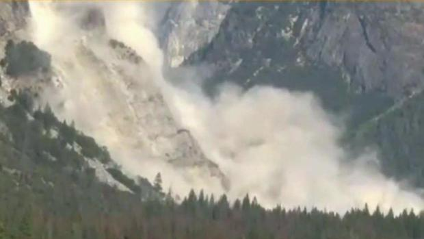 Rock hit man on head as he drove out of Yosemite park