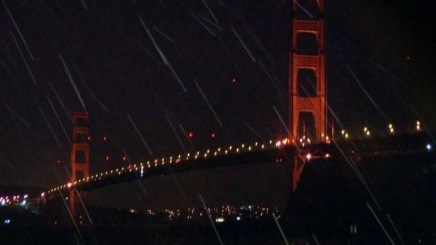 Steady Rain in Marin Headlands Amid Latest Winter Storm