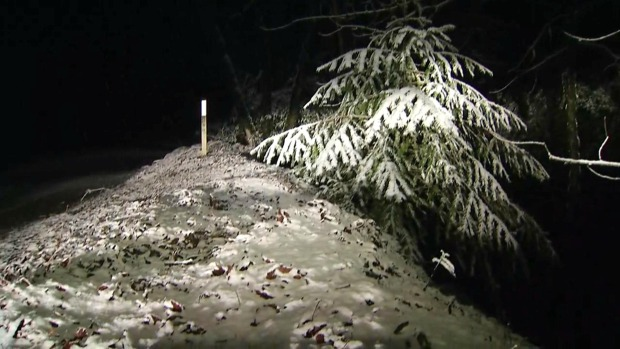 RAW: Snow Blankets Santa Cruz Mountains