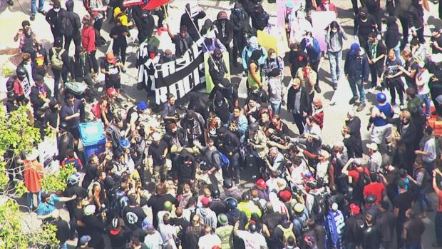 Clashes Break Out at Opposing Rallies in Berkeley
