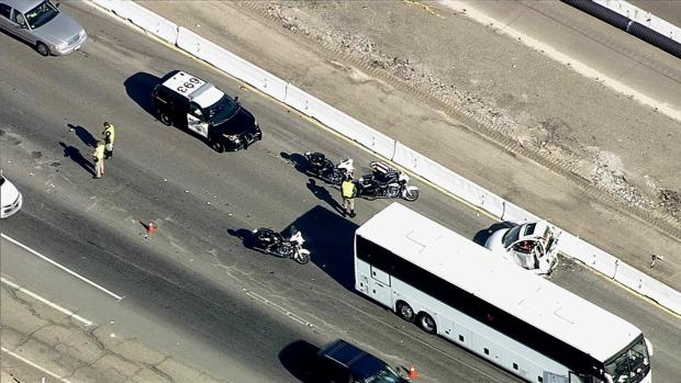 Alameda County Sheriff's Deputy Killed in I-580 Crash With Bus Carrying Tesla Employees