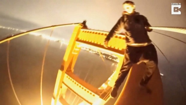 'Craziest Experience of My Life': Thrill-Seekers Scale Golden Gate Bridge, Dangle From Tower
