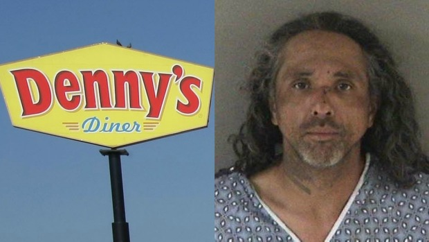 [BAY ML 6A VO ONLY] Union City Man Charged For Attempting to Light Diners in Denny's on Fire