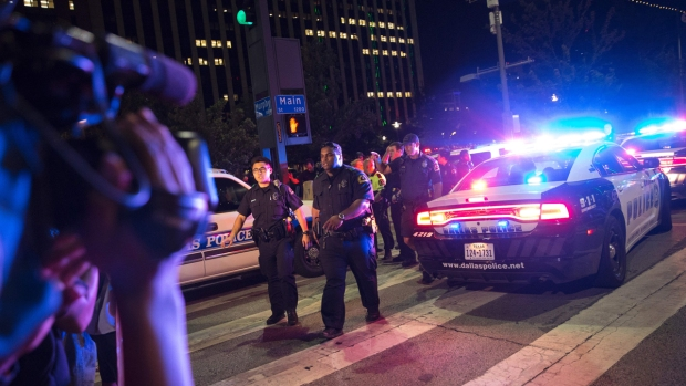 Dramatic Photos: Deadly Sniper Attack in Downtown Dallas