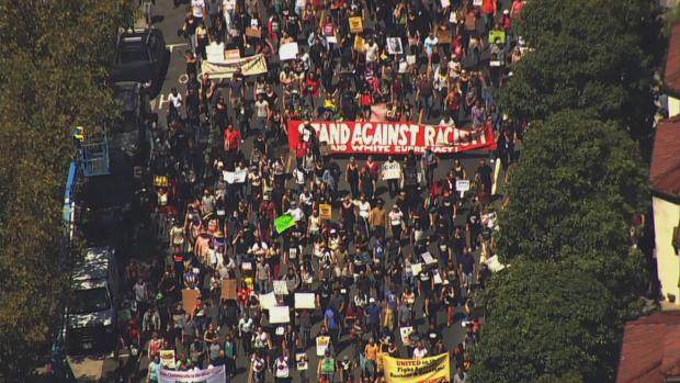 RAW: Thousands in San Francisco March Against Hatred, Racism, 'Alt-Right'