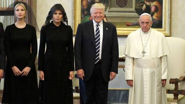 Trump, pope set differences aside