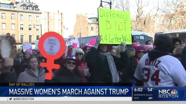 [NECN] Estimated 150,000 Gather on Boston Common for Women's March