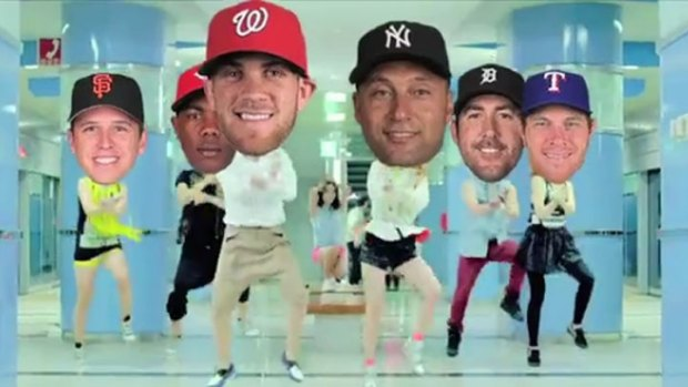 Buster in MLB Gangnam Style Playoffs Video