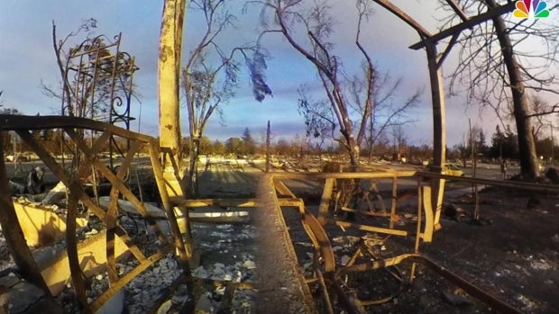 360 Images Show Wildfire's Destruction at Coffey Park