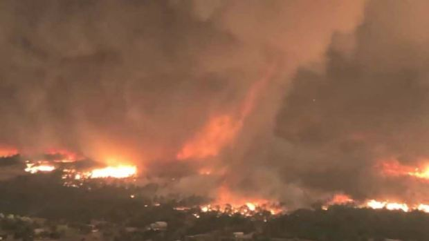 RAW: Fire Tornado Rages in Northern California