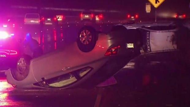 Car Crashes Snarl Traffic as Rain Pounds Bay Area