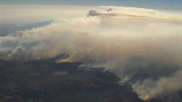 [NATL-BAY] RAW: Aerial Footage Depicts Scope of North Bay Fires