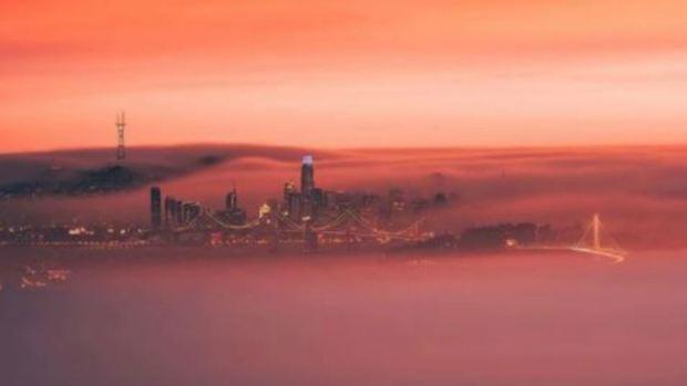 [BAY BW]Wildfire Smoke Sets Off Vivid Bay Area Sunsets