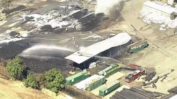 [BAY] Crews Knock Down Blaze at Roofing Business in Pittsburg