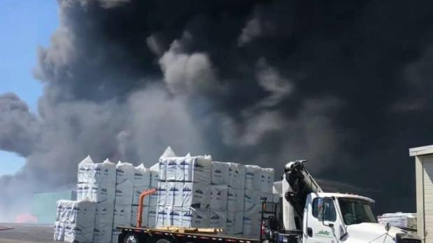 [BAY] Crews Knock Down Fire at Roofing Business in Pittsburg