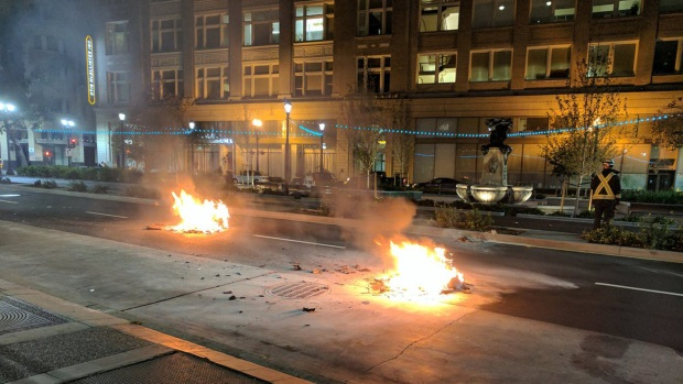 Bay Area Erupts Protests After the Announcement of Donald Trump Presidency