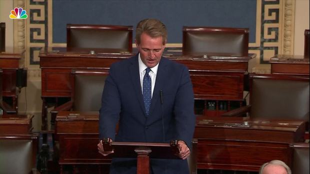 [NATL] Sen. Jeff Flake Gets Emotional Remembering McCain