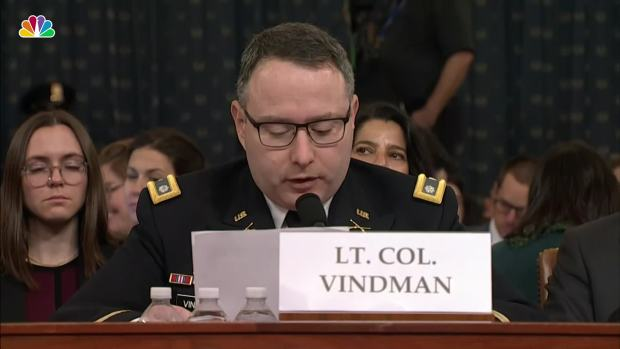 [NATL] Lt. Col. Vindman to Father: 'Do Not Worry, I Will Be Fine for Telling the Truth'